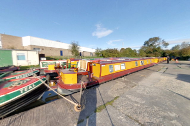 Canal Boats Moored at Rugby